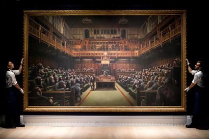 Londra, asta record per dipinto Banksy: venduto a 11,1 mln euro