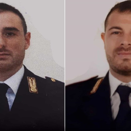Pierluigi Rotta eMatteo Demenego, i due poliziotti uccisi a Trieste