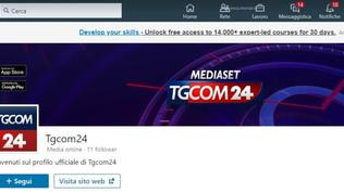 Tgcom24 sbarca su LinkedIn