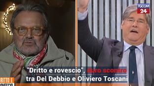 """Scontro tra Del Debbio e Oliviero Toscani: """"Vai a fare le fotografie e non rompere le p***e"""""""