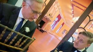 Paolo Bonolis alle nozze americane del figlio Stefano
