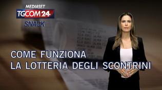 Tgcom24 snack video: come funziona la lotteria degli scontrini