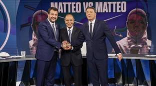 Matteo contro Matteo: i due leader in tv | Salvini: