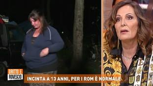 """""""Dritto e Rovescio"""", mamma rom insulta Daniela Santanchè: """"Fatti i c***i tuoi p*****a"""""""
