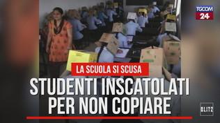 Studenti inscatolati per non copiare | Guarda il video