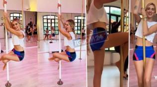 Chiara Ferragni si attacca al palo: pazza per la pole dance