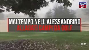 Maltempo nell'Alessandrino, allagati campi da golf