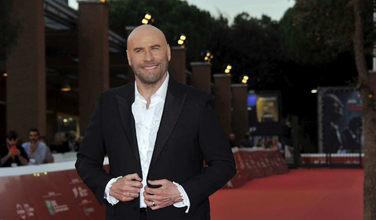 John Travolta sul red carpet della Festa del cinema di Roma