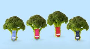 Il broccolo mette la cravatta, fashion e food insieme per la salute maschile