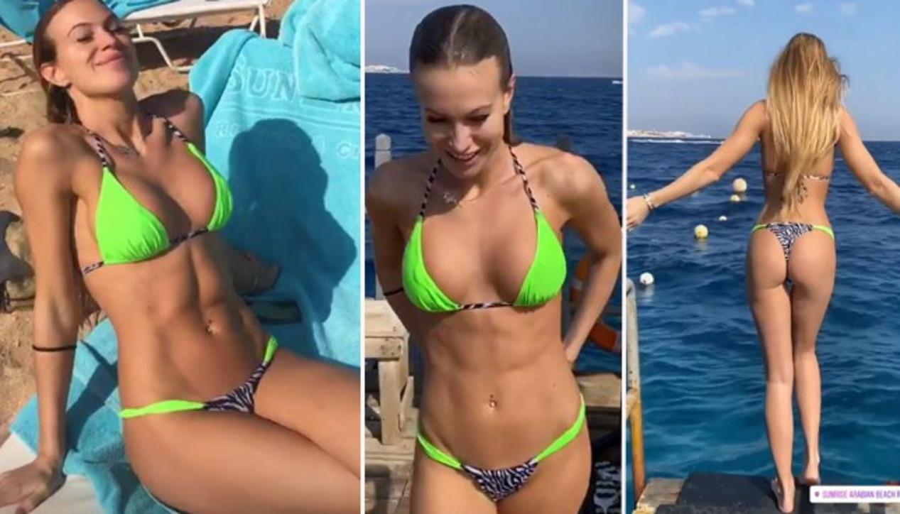 Taylor Mega in vacanza a Sharm, che tuffi bollenti!