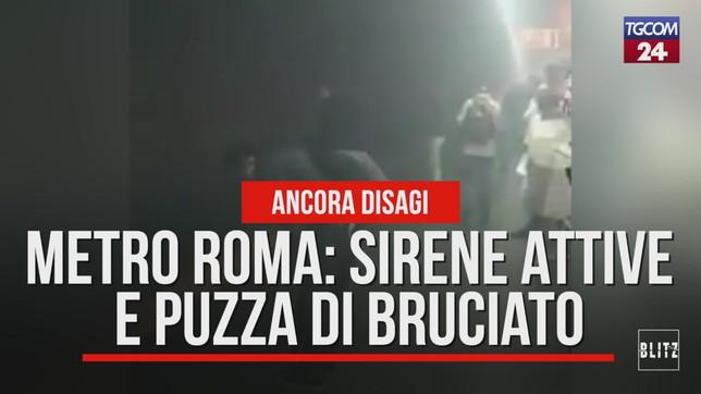 Metro Roma: sirene attive e puzza di bruciato