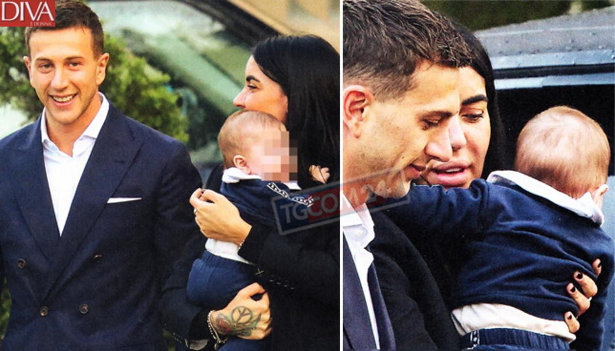 Bernardeschi e Veronica Ciardi, le prime foto con il figlio