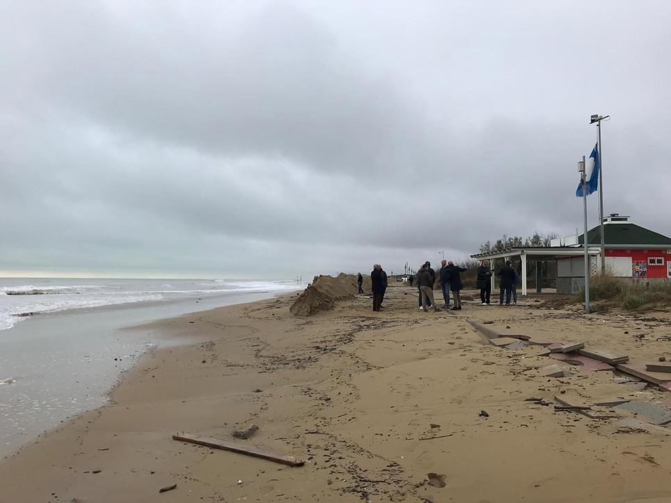 Maltempo a Jesolo, litorale devastato