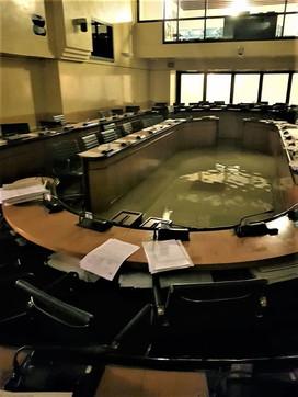 Consiglio regionale allagato: le foto