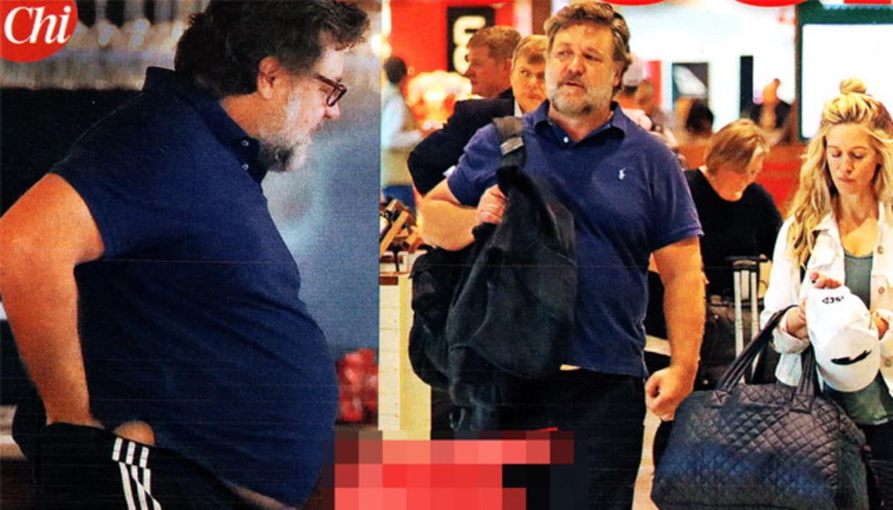Russell Crowe, il pancione lievita non solo al cinema