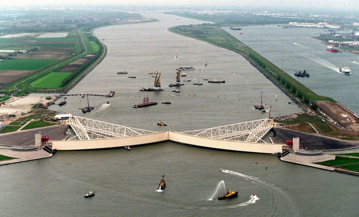 La diga che protegge Rotterdam