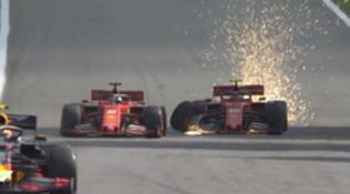 Verstappen vince in Brasile   Disastro Ferrari: scontro Vettel-Leclerc nel finale
