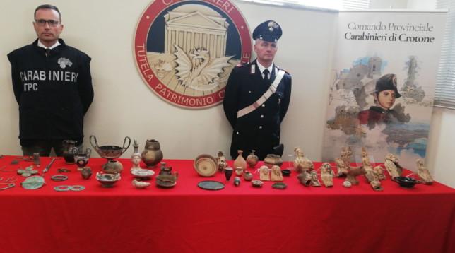 Traffico di beni archeologici dalla Calabria, 23 misure cautelari