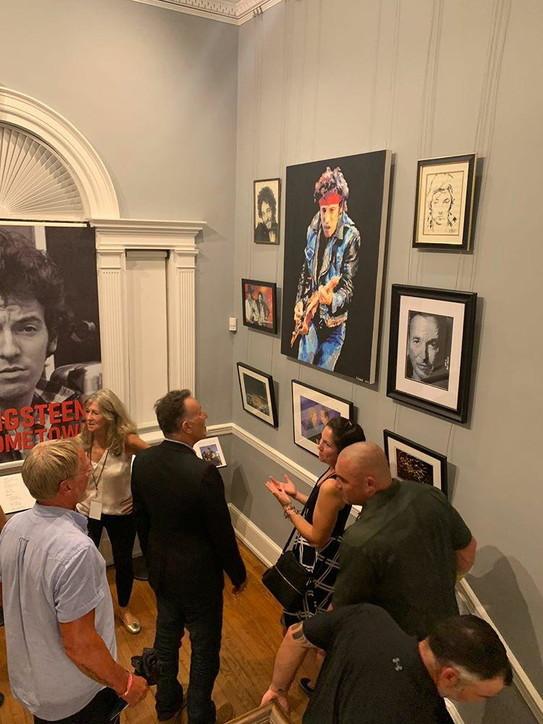 Il ritratto di Bruce Springsteen di una fan italiana in mostra nel New Jersey