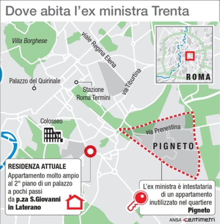 Ex ministro Trenta, dove si trova l'appartamento al centro delle polemiche
