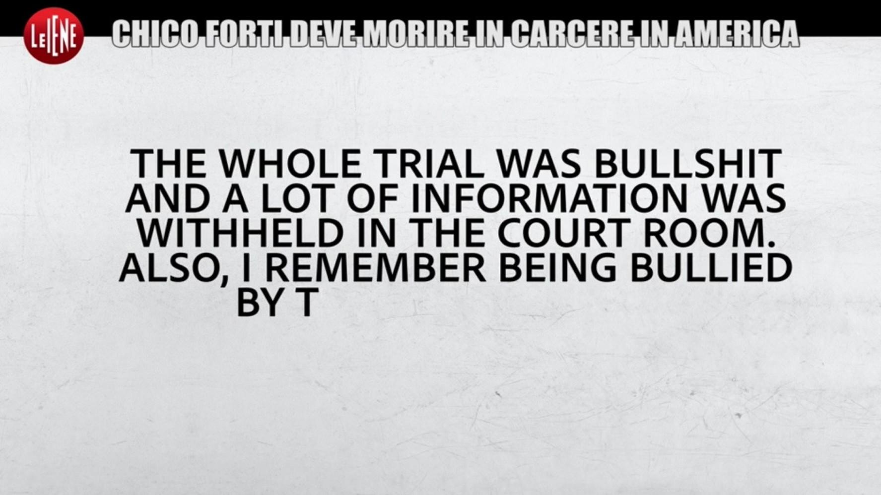 """Caso Chico Forti, parla una giurata: """"Il processo è stato una c*****a ..."""