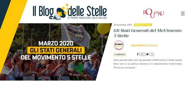 M5s blog delle Stelle regionali Emilia Romagna Calabria voto online Rousseau