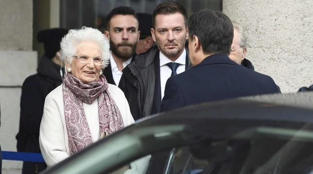 Giuseppe Conte con Liliana Segre visita il Memoriale della Shoah