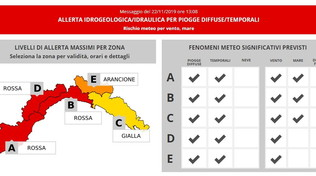 Maltempo, scatta l'allerta rossa della Protezione Civile in Liguria | Genova si ferma