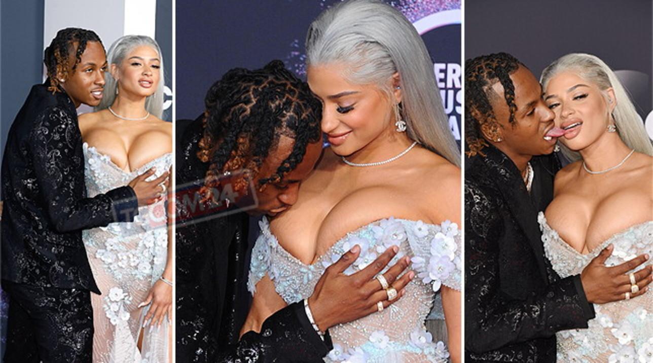 Agli American Music Awards vanno in scena siparietti bollenti... tra palpatine e baci audaci