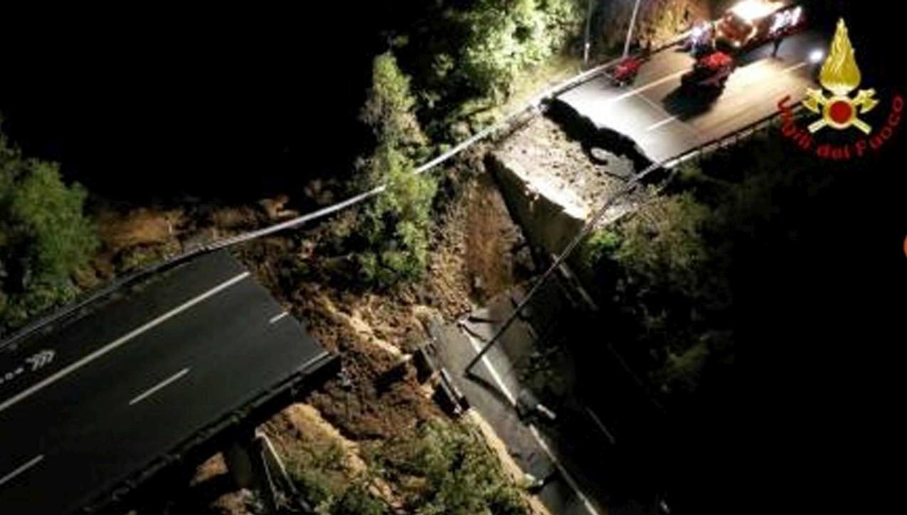Viadotto crollato sull'A6, in bilico 15mila metri cubi di fango