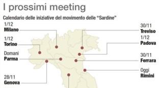 Sardine, iniziative in tutta Italia