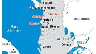 Forte scossa di terremoto in Albania: magnitudo 6.5