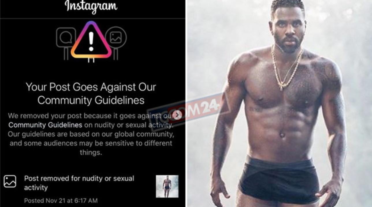 Il cantante Jason Derulo è superdotato, ma Instagram lo censura...