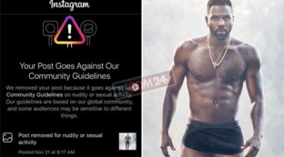 Il cantante Jason Derulo è superdotato, ma Instagram lo censura...