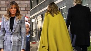 Melania Trump con lo stesso cappotto: non fa in tempo o è una strategia?