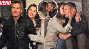 Tenera è la notte per Jimmy Ghione, baci e abbracci con Daria Baykalova