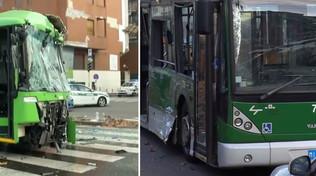 Milano, camion dei rifiuti si scontracon un filobus: in coma una passeggera