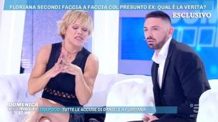 """Tensione in studio tra Floriana e il suo ex: """"Ti tiro uno schiaffo"""""""