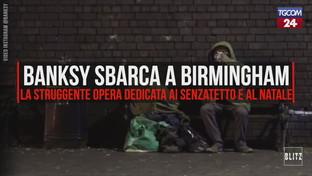 Banksy sbarca a Birmingham: la struggente opera dedicata ai senzatetto e al Natale