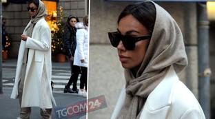 """Per Madalina Ghenea shopping """"solitario"""" a Milano"""