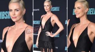 """Charlize Theron è una... bomba sexy sul red carpet per la prima di """"Bombshell"""""""
