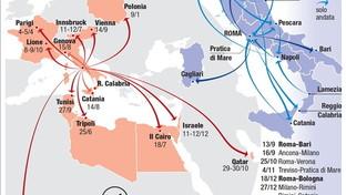 Matteo Salvini, tutti i voli di Stato nei primi 11 mesi da ministro