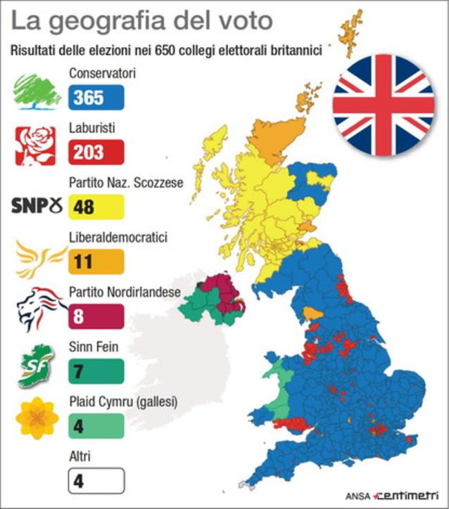 Voto Gb, i collegi assegnati in tutto il Regno Unito