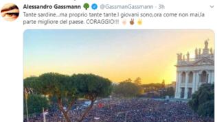 Alessandro Gassman tifa per le Sardine: