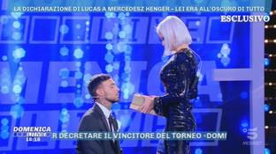 """""""Domenica Live"""", Lucas Petracchi a Mercedesz Henger: """"Voglio costruire un futuro con te"""""""