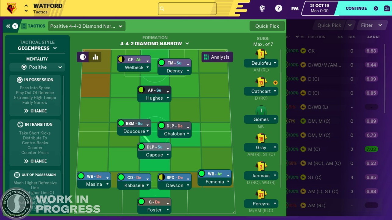 Football Manager Touch 2020, le immagini ufficiali