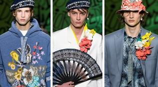 Moda uomo, autunno 2020: sarete disposti a vestirvi di fiori?