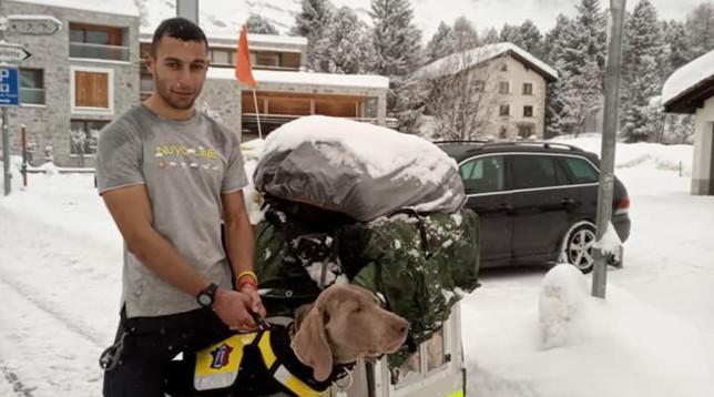 A piedi da Lodi fino a Caponord con il cane Victor: l'impresa di un 24enne per avere fondi contro il neuroblastoma