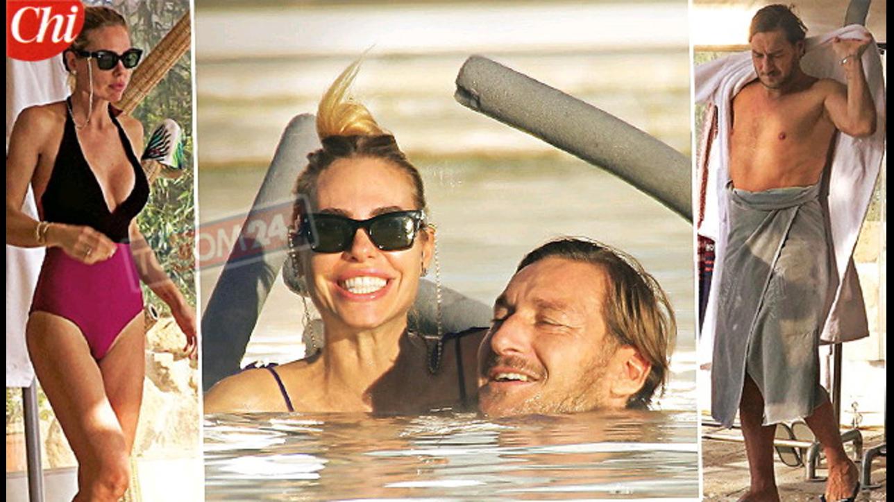 Ilary Blasi e Francesco Totti in relax nella spa tra coccole e ...