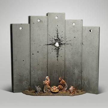 """Il presepe di Banksy è una """"Cicatrice"""" ai piedi del muro di Gaza"""